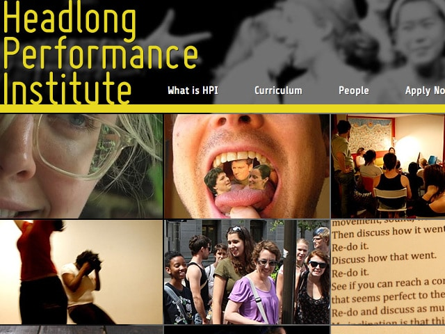 Headlong Performance Institute Web Site