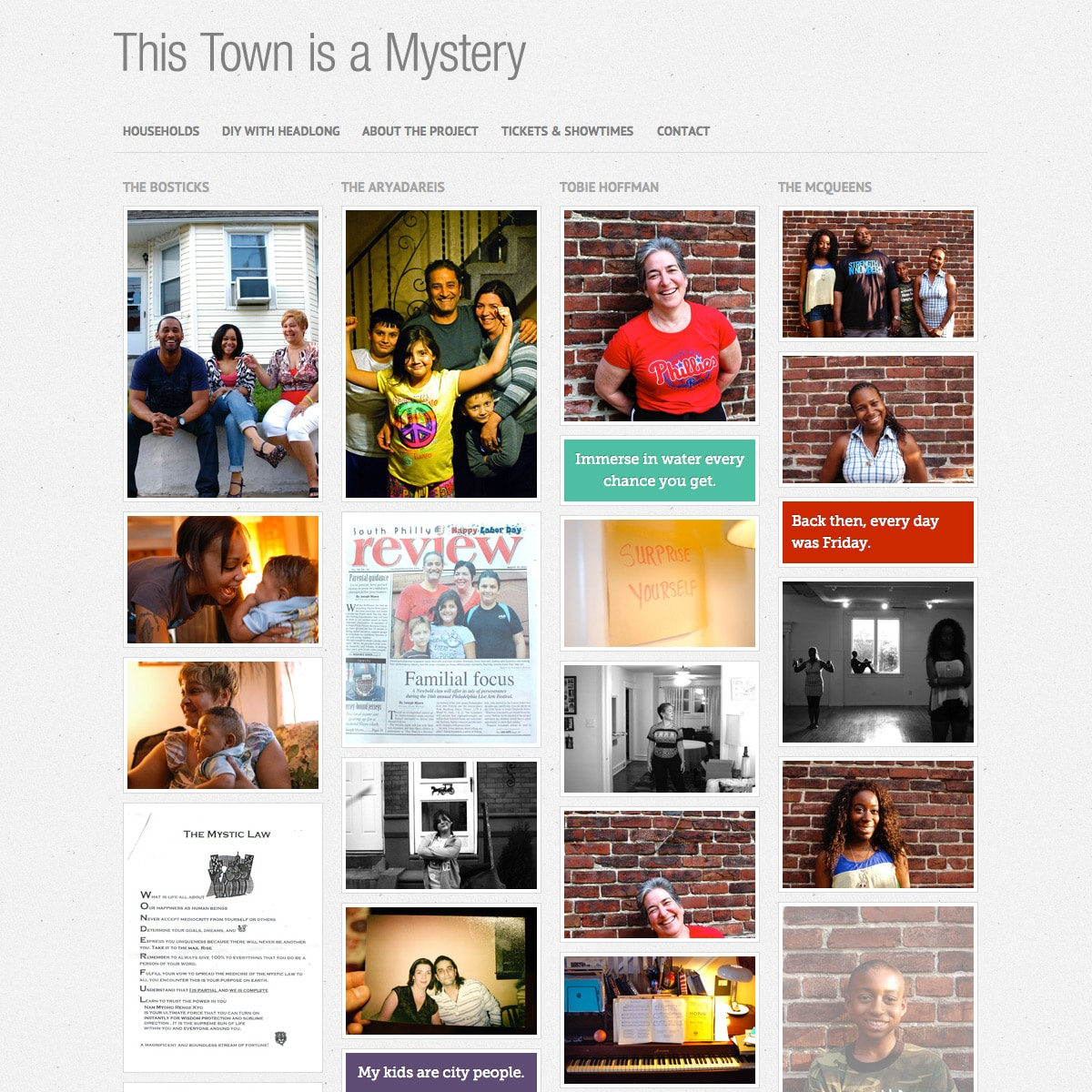 This Town is a Mystery - Home Page