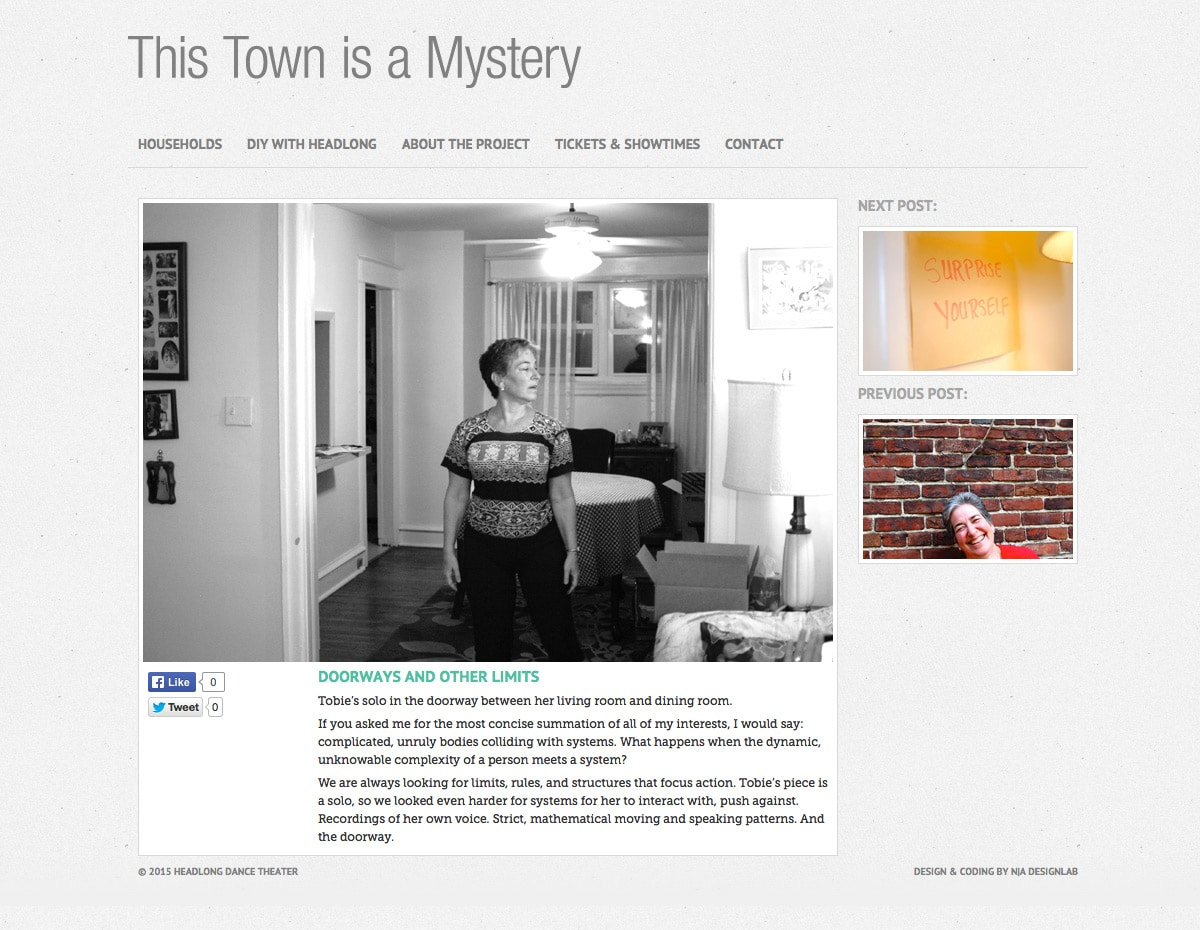 This Town is a Mystery - Post Detail Page