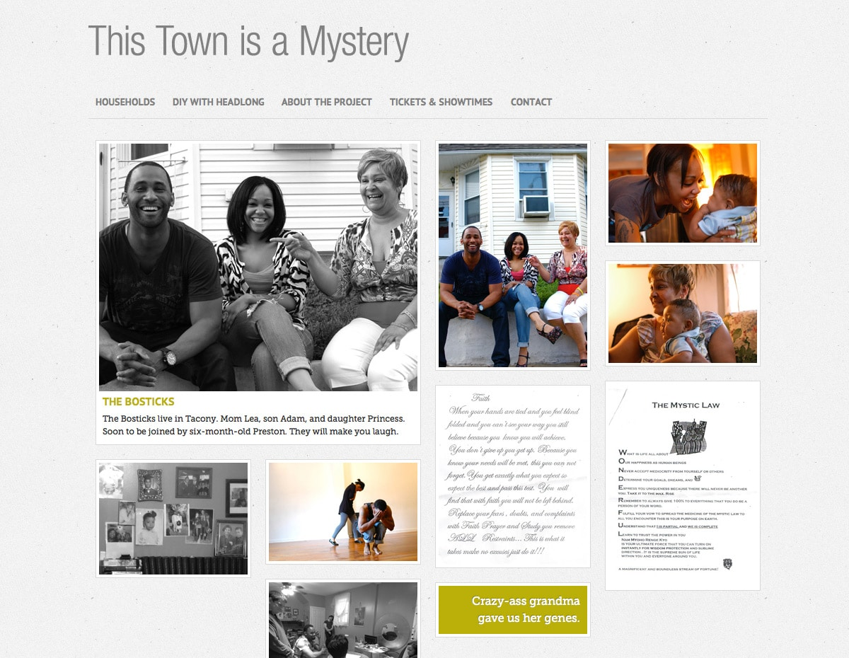 This Town is a Mystery - Family Page