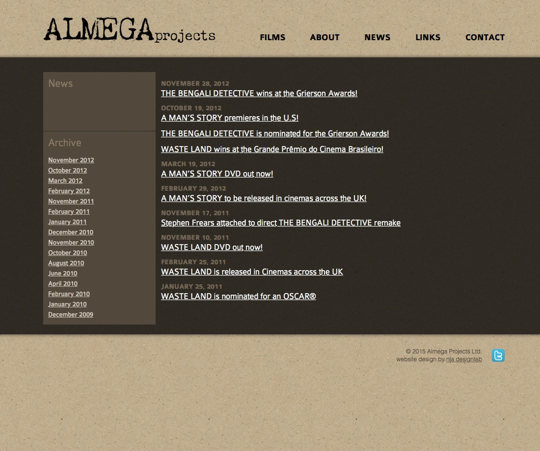 Almega Projects - News Index Page