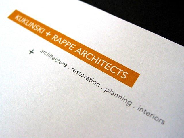 Kuklinski + Rappe Architects Identity